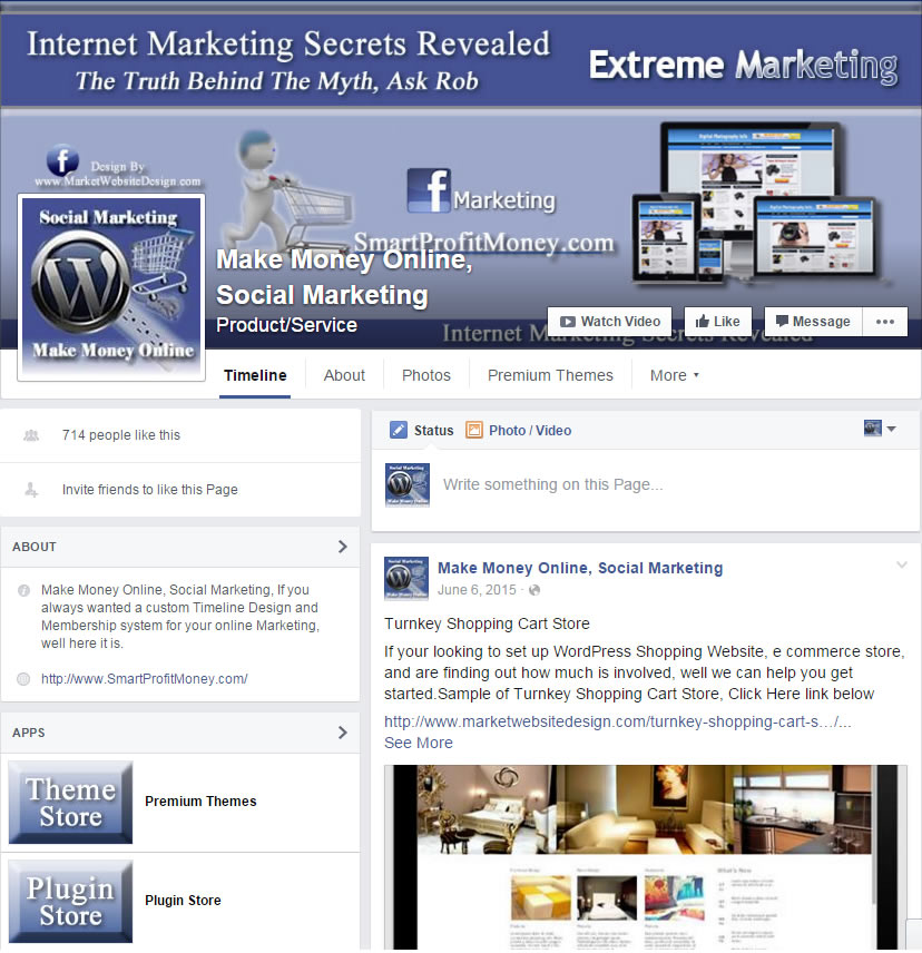 Facebook Design  Internet Marketing Training